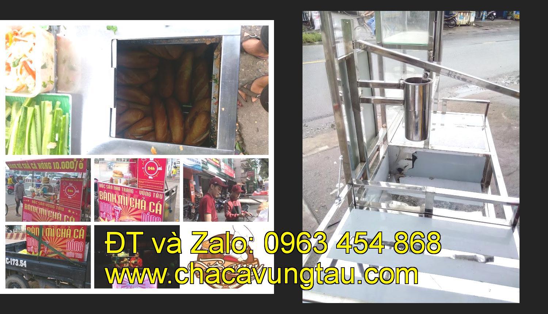 Chọn mua xe bán bánh mì chả cá inox tại tỉnh Cà Mau