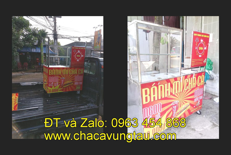 Cần chọn mua xe bánh mì chả cá nóng inox tại tỉnh Nam Định