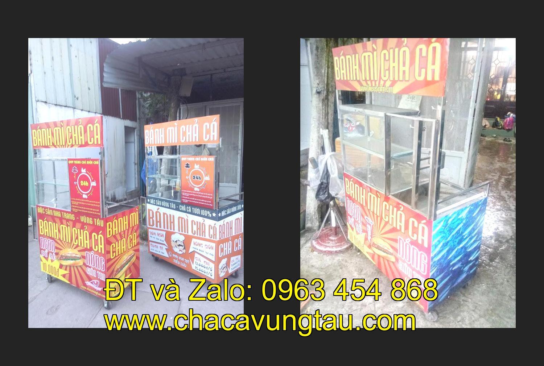 Mua xe bán bánh mì cá chả inox ở tinh Đồng Tháp