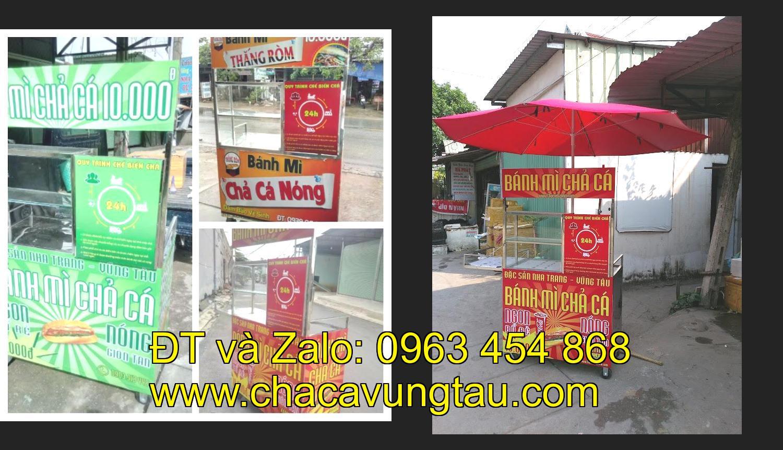 Cần chọn mua xe bánh mì chả cá nóng inox tại tỉnh Quảng Ngãi