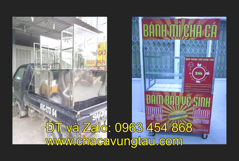 Mua xe bán bánh mì chả cá inox ở tinh Sơn La